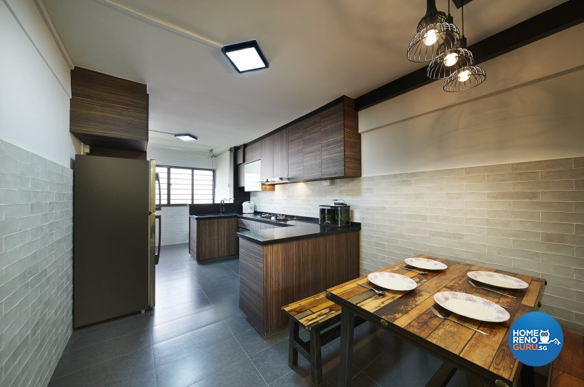 Industrial, Rustic Design - Kitchen - HDB 4 Room - Design by Dezign Culture