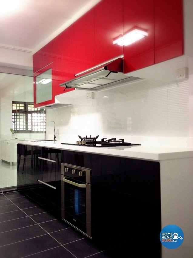 Modern Design - Kitchen - HDB 4 Room - Design by Dezign Culture