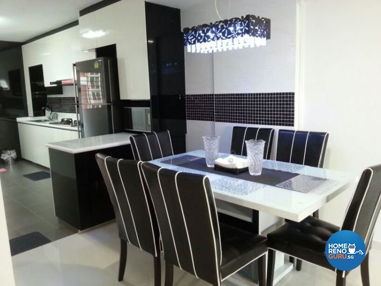 Contemporary Design - Dining Room - HDB 4 Room - Design by Dezign Culture