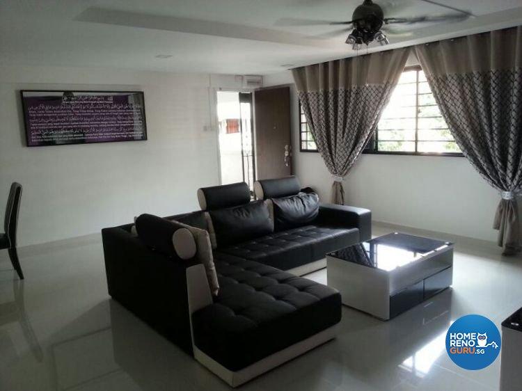 Contemporary Design - Living Room - HDB 4 Room - Design by Dezign Culture