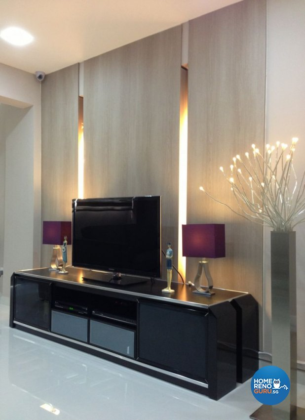 Contemporary Design - Living Room - HDB Executive Apartment - Design by Dezign Culture
