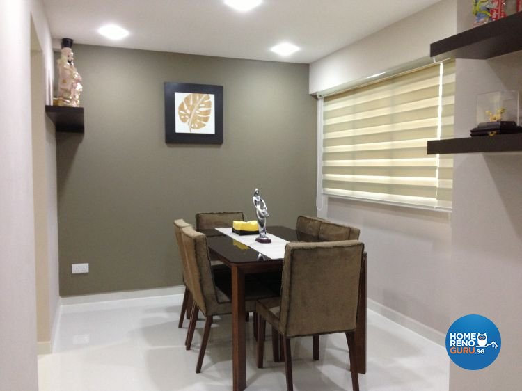 Contemporary Design - Dining Room - HDB Executive Apartment - Design by Dezign Culture