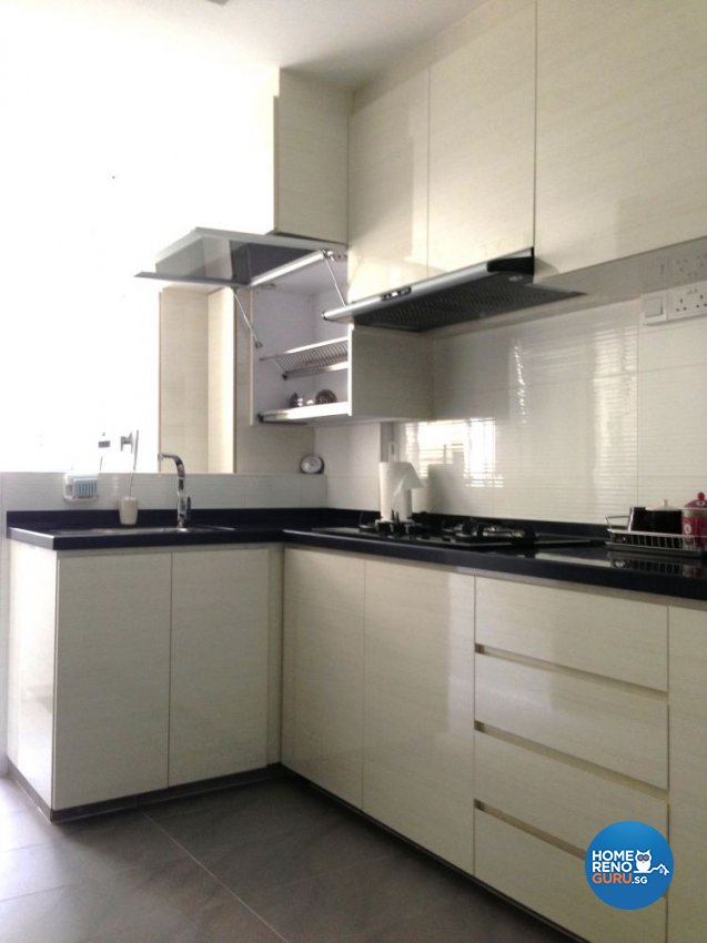 Contemporary Design - Kitchen - HDB Executive Apartment - Design by Dezign Culture