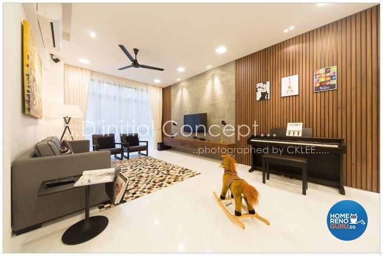 Contemporary Design - Living Room - Condominium - Design by D Initial Concept