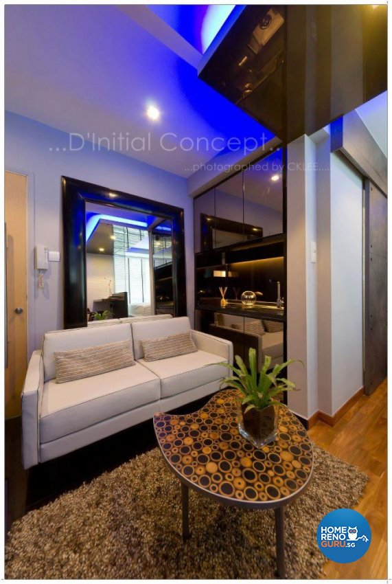Eclectic Design - Living Room - Condominium - Design by D Initial Concept