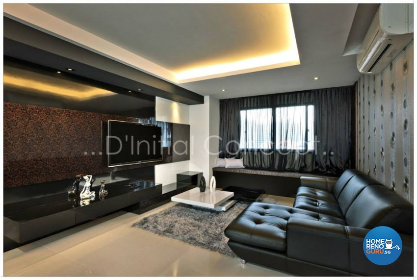 Contemporary, Modern Design - Living Room - HDB Executive Apartment - Design by D Initial Concept