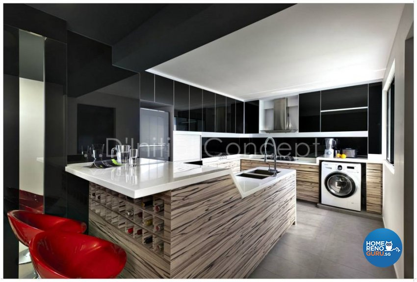 Contemporary, Modern Design - Kitchen - HDB Executive Apartment - Design by D Initial Concept