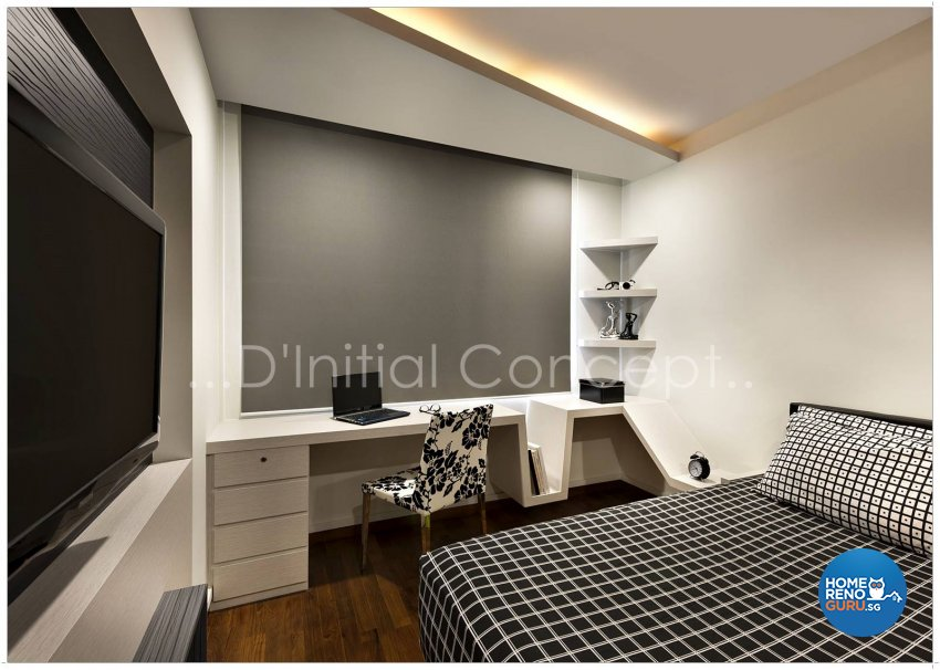 Contemporary, Modern Design - Bedroom - HDB Executive Apartment - Design by D Initial Concept