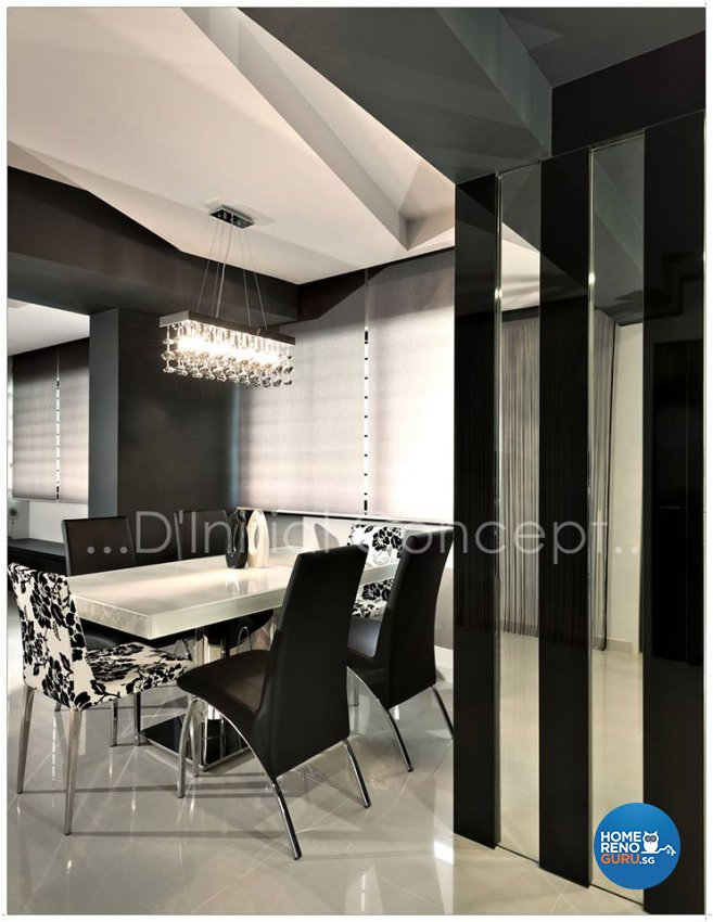 Contemporary, Modern Design - Dining Room - HDB Executive Apartment - Design by D Initial Concept