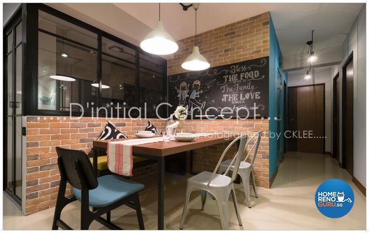 Scandinavian Design - Dining Room - HDB 4 Room - Design by D Initial Concept