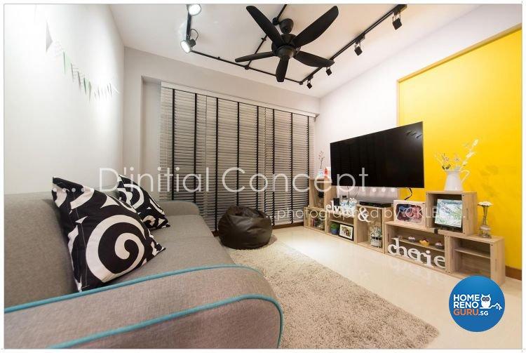 Scandinavian Design - Living Room - HDB 4 Room - Design by D Initial Concept