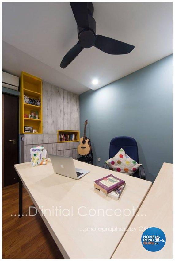 Scandinavian Design - Study Room - HDB 4 Room - Design by D Initial Concept