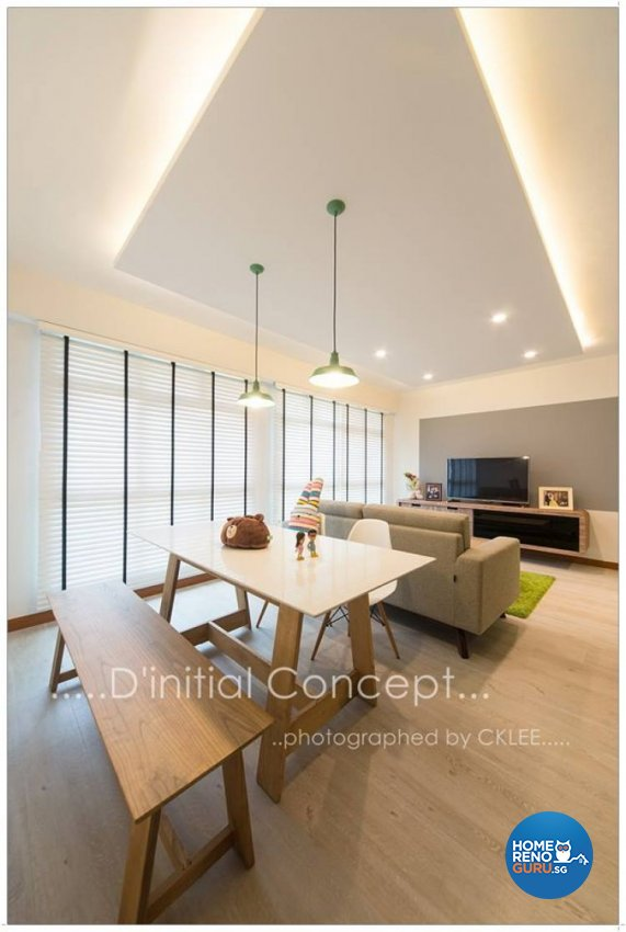 Scandinavian Design - Living Room - HDB 4 Room - Design by D Initial Concept