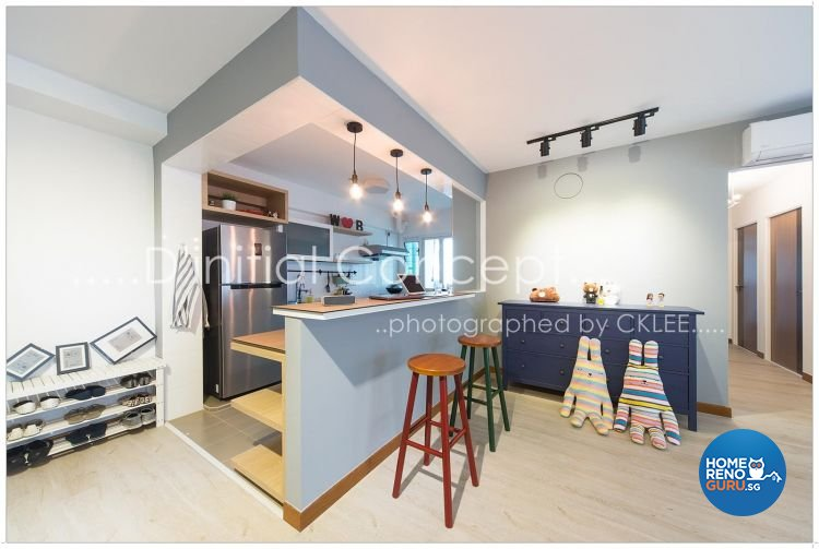 Scandinavian Design - Kitchen - HDB 4 Room - Design by D Initial Concept