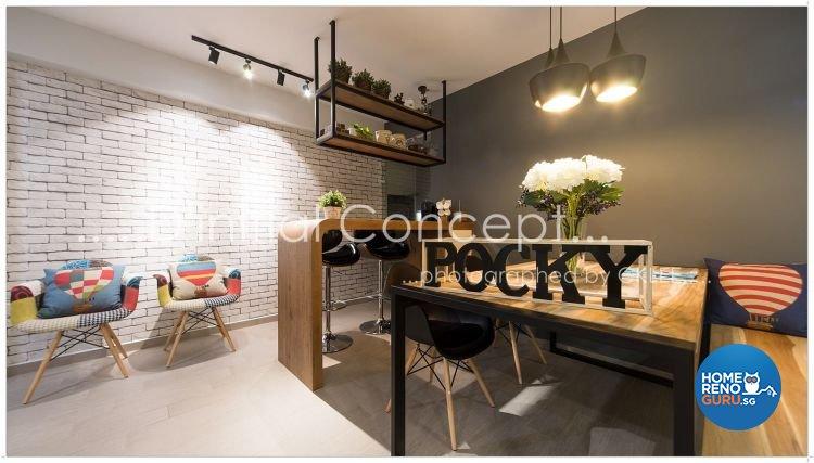 Scandinavian Design - Dining Room - HDB 5 Room - Design by D Initial Concept