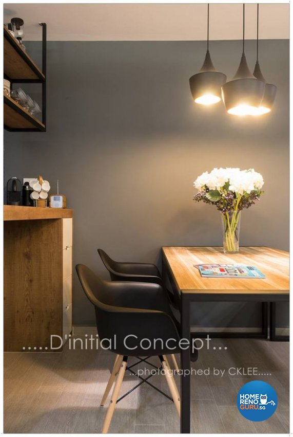 Scandinavian Design - Dining Room - HDB 5 Room - Design by D Initial Concept