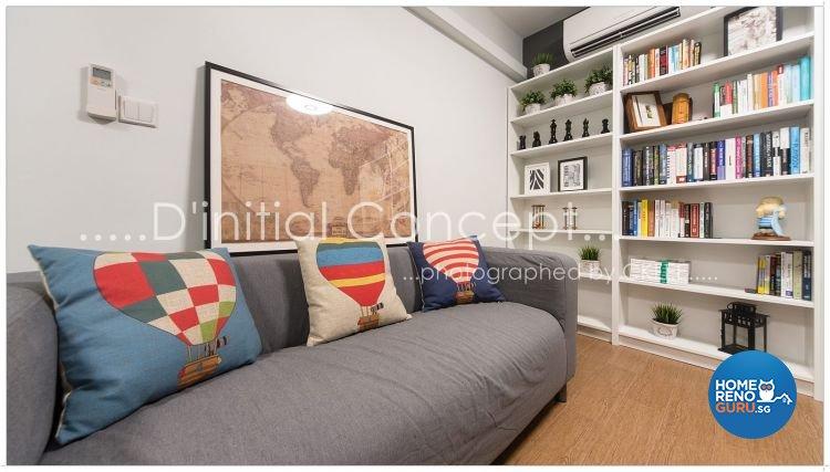 Scandinavian Design - Study Room - HDB 5 Room - Design by D Initial Concept