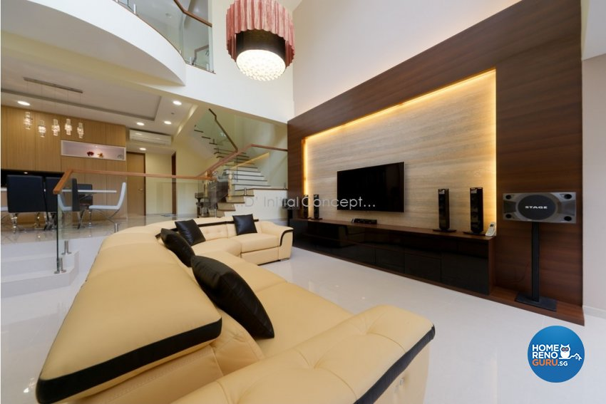 Eclectic, Modern Design - Living Room - Landed House - Design by D Initial Concept