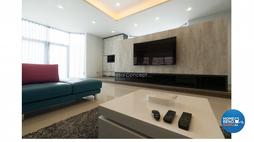 Contemporary, Modern Design - Living Room - Landed House - Design by D Initial Concept