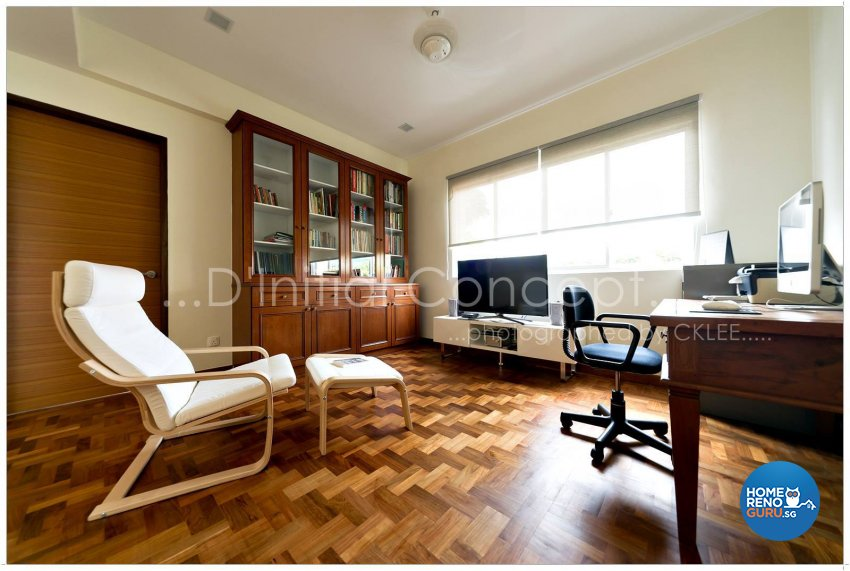 Classical, Contemporary, Tropical Design - Study Room - Landed House - Design by D Initial Concept