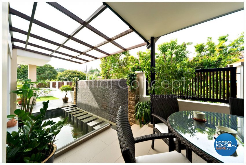 Classical, Contemporary, Tropical Design - Garden - Landed House - Design by D Initial Concept