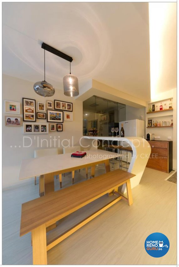 Contemporary, Industrial Design - Dining Room - HDB 4 Room - Design by D Initial Concept