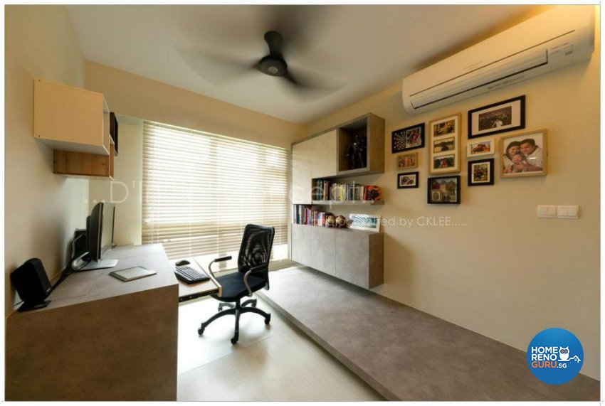 Contemporary, Industrial Design - Study Room - HDB 4 Room - Design by D Initial Concept