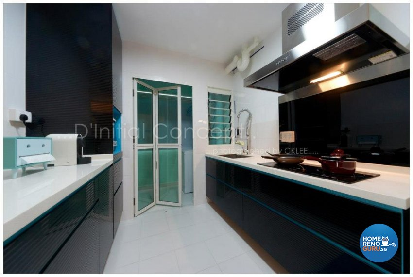 Contemporary, Industrial Design - Kitchen - HDB 4 Room - Design by D Initial Concept