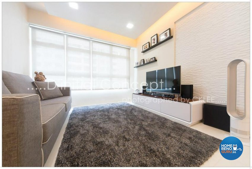 Contemporary, Minimalist Design - Living Room - HDB 4 Room - Design by D Initial Concept