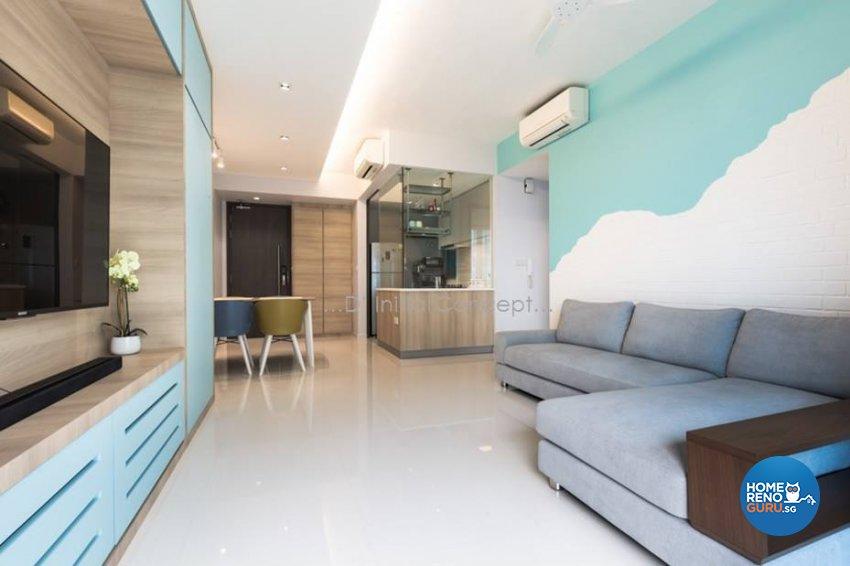 Mediterranean, Minimalist, Modern Design - Living Room - Condominium - Design by D Initial Concept