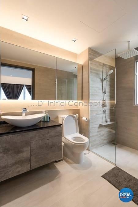 Mediterranean, Minimalist, Modern Design - Bathroom - Condominium - Design by D Initial Concept