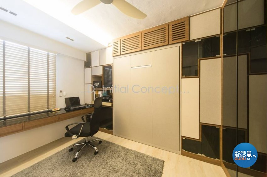 Classical, Contemporary, Modern Design - Study Room - HDB 4 Room - Design by D Initial Concept