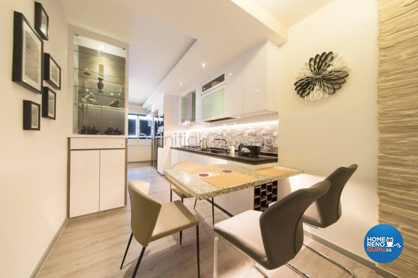 Classical, Contemporary, Modern Design - Dining Room - HDB 4 Room - Design by D Initial Concept