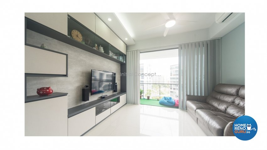 Contemporary, Modern Design - Living Room - Condominium - Design by D Initial Concept
