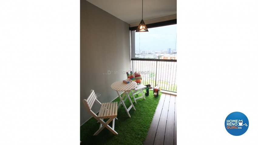 Modern, Scandinavian Design - Balcony - HDB 4 Room - Design by D Initial Concept