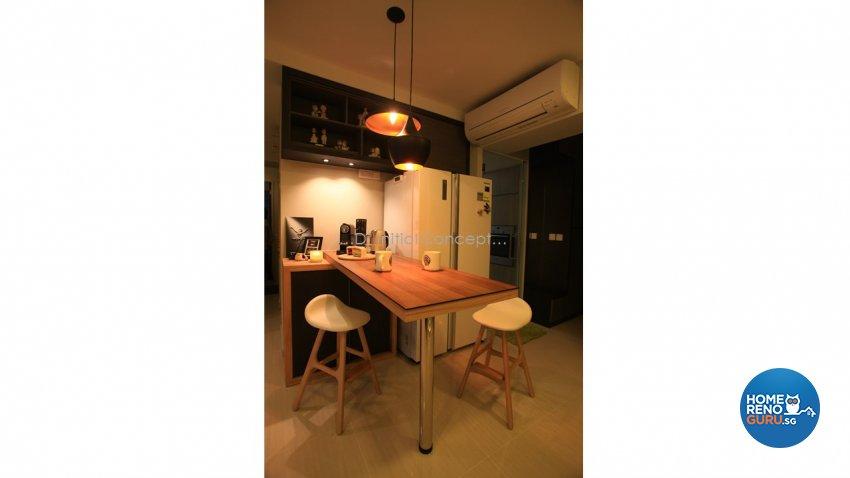 Modern, Scandinavian Design - Dining Room - HDB 4 Room - Design by D Initial Concept