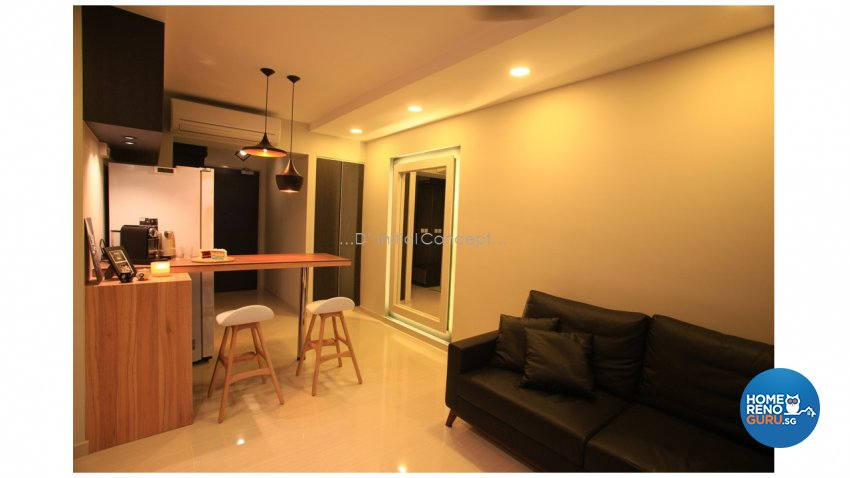 Modern, Scandinavian Design - Living Room - HDB 4 Room - Design by D Initial Concept