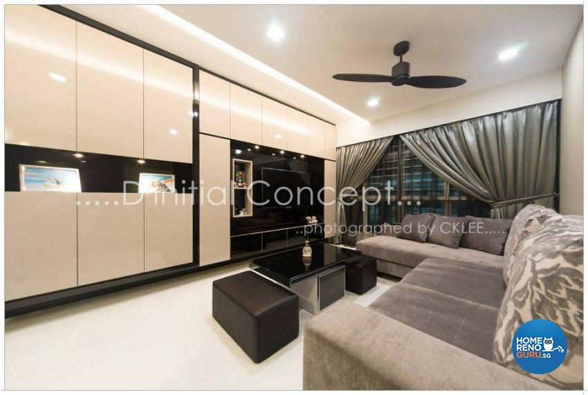 Contemporary, Modern Design - Living Room - HDB 4 Room - Design by D Initial Concept