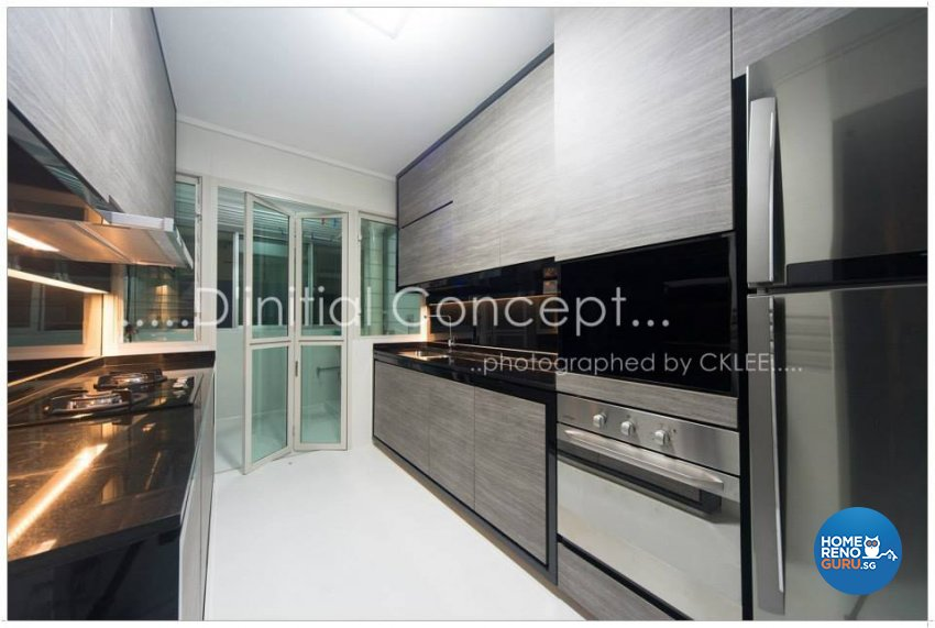 Contemporary, Modern Design - Kitchen - HDB 4 Room - Design by D Initial Concept