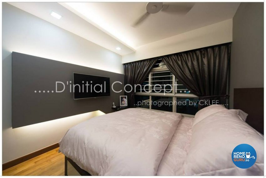 Contemporary, Modern Design - Bedroom - HDB 4 Room - Design by D Initial Concept