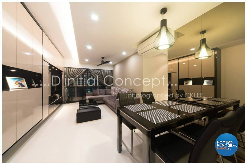 Contemporary, Modern Design - Dining Room - HDB 4 Room - Design by D Initial Concept