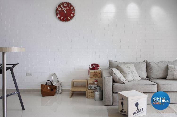Retro Design - Living Room - Condominium - Design by Distinctidentity Pte Ltd
