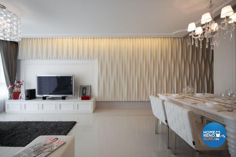Minimalist Design - Living Room - Condominium - Design by Distinctidentity Pte Ltd