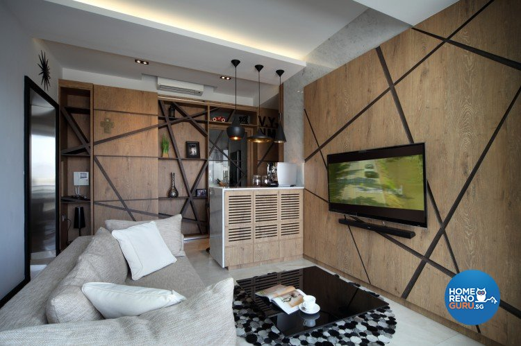 Country Design - Living Room - Condominium - Design by Distinctidentity Pte Ltd