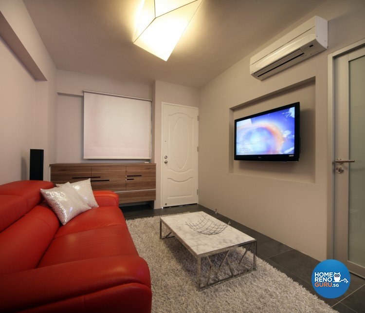 Tropical Design - Living Room - HDB 3 Room - Design by Distinctidentity Pte Ltd