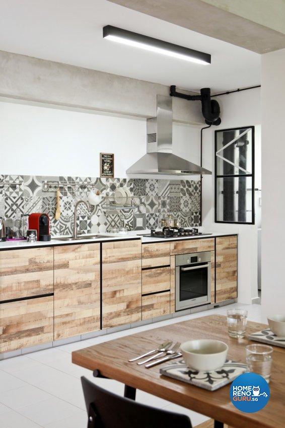 Scandinavian Design - Kitchen - HDB 4 Room - Design by Distinctidentity Pte Ltd