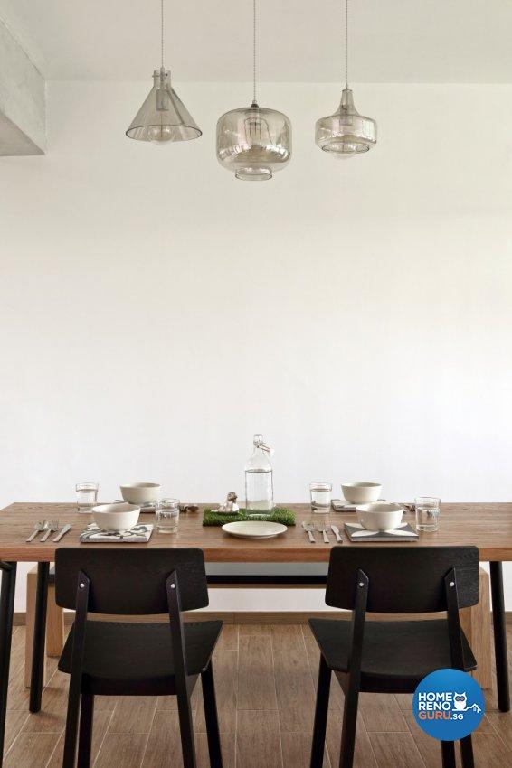 Scandinavian Design - Dining Room - HDB 4 Room - Design by Distinctidentity Pte Ltd