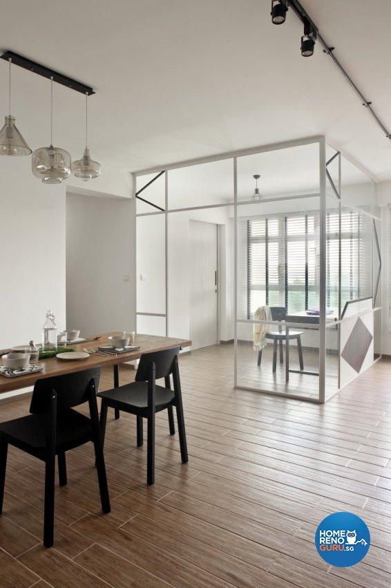 Scandinavian Design - Living Room - HDB 4 Room - Design by Distinctidentity Pte Ltd