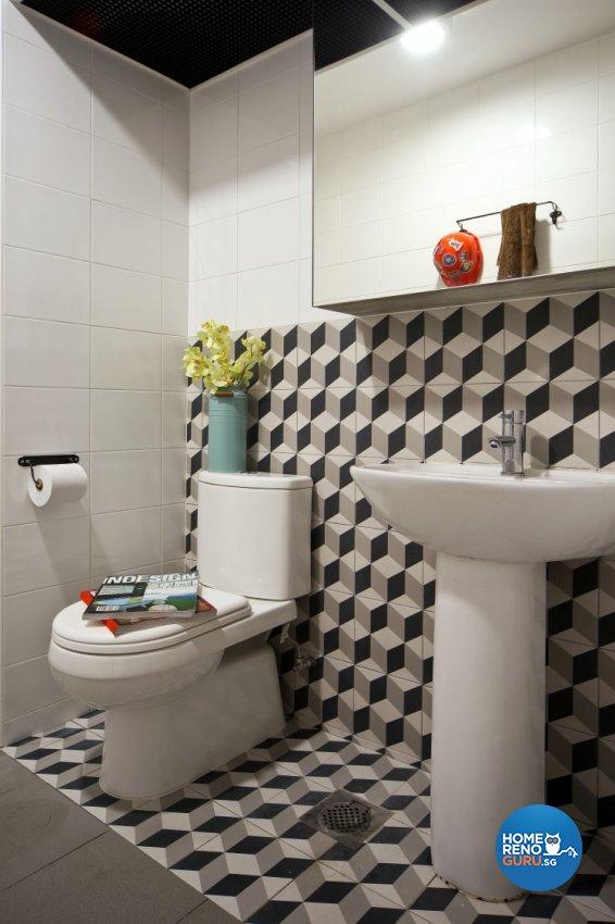 Scandinavian Design - Bathroom - HDB 4 Room - Design by Distinctidentity Pte Ltd