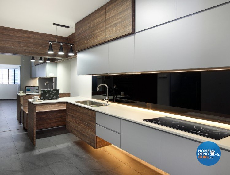 Scandinavian Design - Kitchen - HDB 5 Room - Design by Distinctidentity Pte Ltd